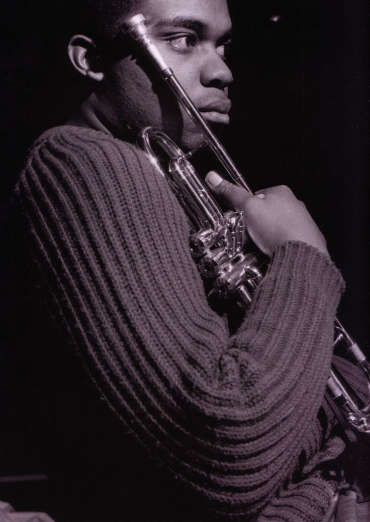 Freddie Hubbard (1938-2008) American jazz trumpeter. He was known primarily for playing in the bebop, hard bop and post-bop styles from the early 1960s and on. Freddie Hubbard during Hank Mobley's The Turnaround session, Englewood Cliffs NJ, February 5, 1965.