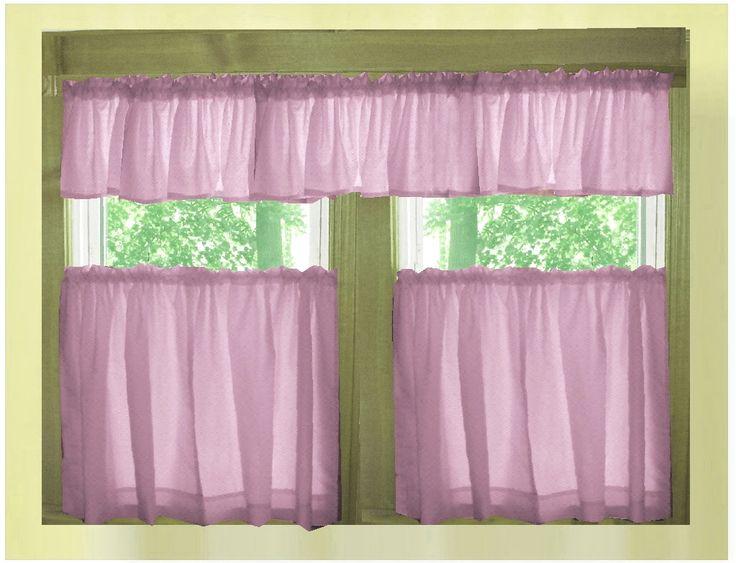 Purple Colors Kitchen Curtains