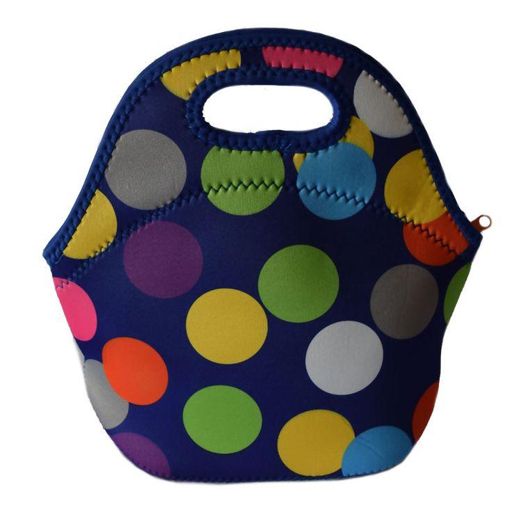 Bolsa termica lancheira bolsa de neopreno almuerzo grande bolsa térmica para los alimentos para las cajas de almuerzo con luchbox lancheira termica paquete negro