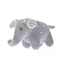 Elephant Rattle Polka Dot Grey