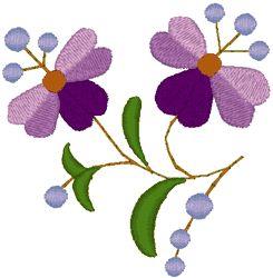 Hungarian Embroidery: Kalocsa Folk Art Flowers Embroidery Design