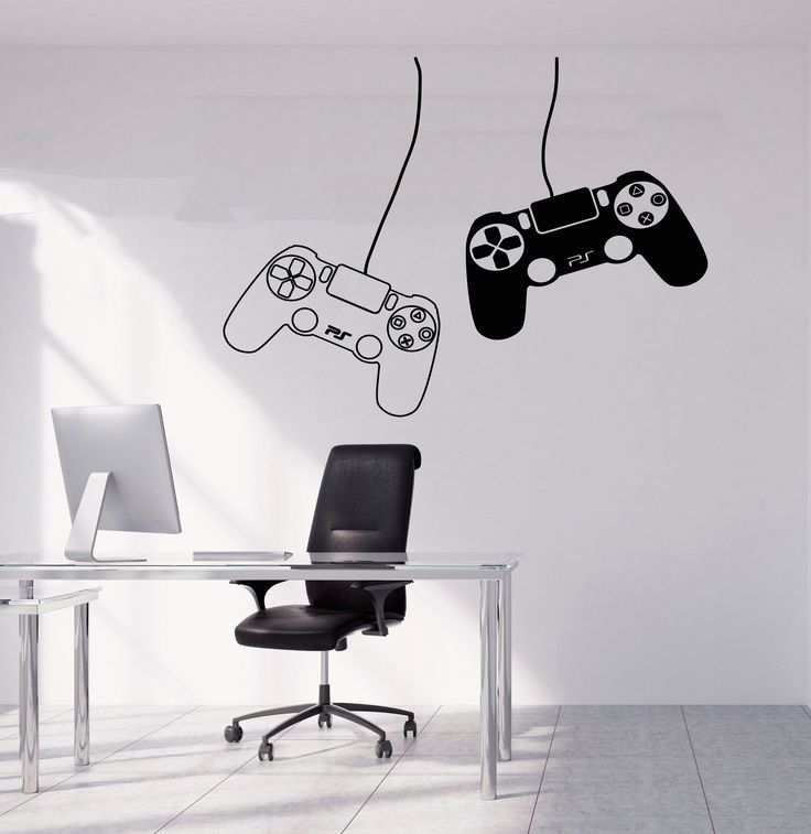 Gamer Wall Decal Gamer Decals Controller Decals Personalized Gamer Room 3063