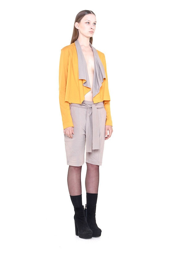 Kowtow SS 2013 'Staple' cardigan and 'Take it easy' short