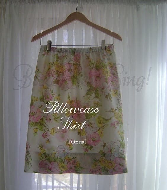 pillowcase skirt tute