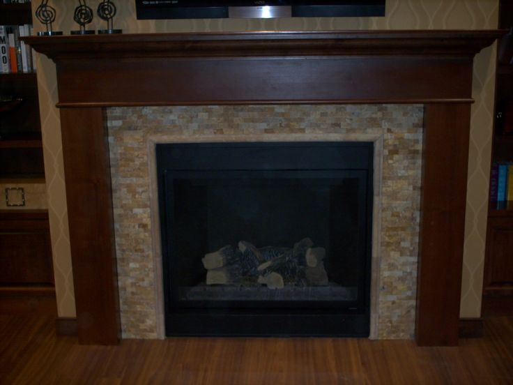 Accessories Furniture Gorgeous Dark Brown Wood Custom Made Fireplace Mantels With Ceramic Tile