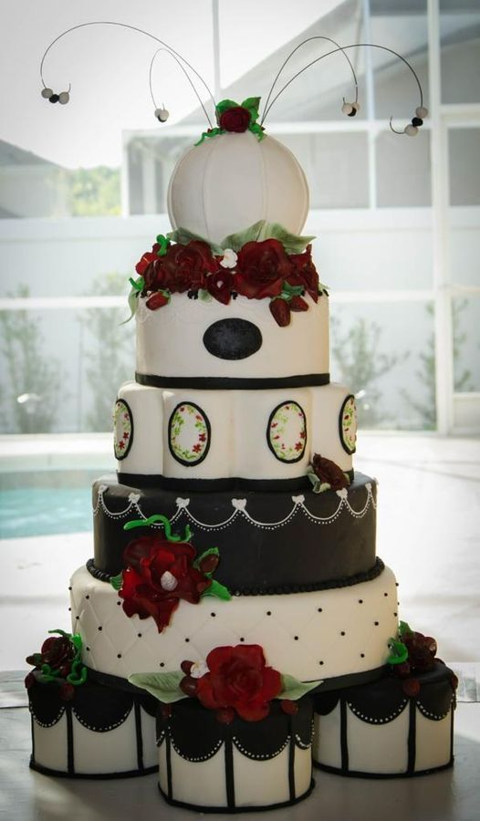 strawberry wedding — Other / Mixed Shaped Wedding Cakes