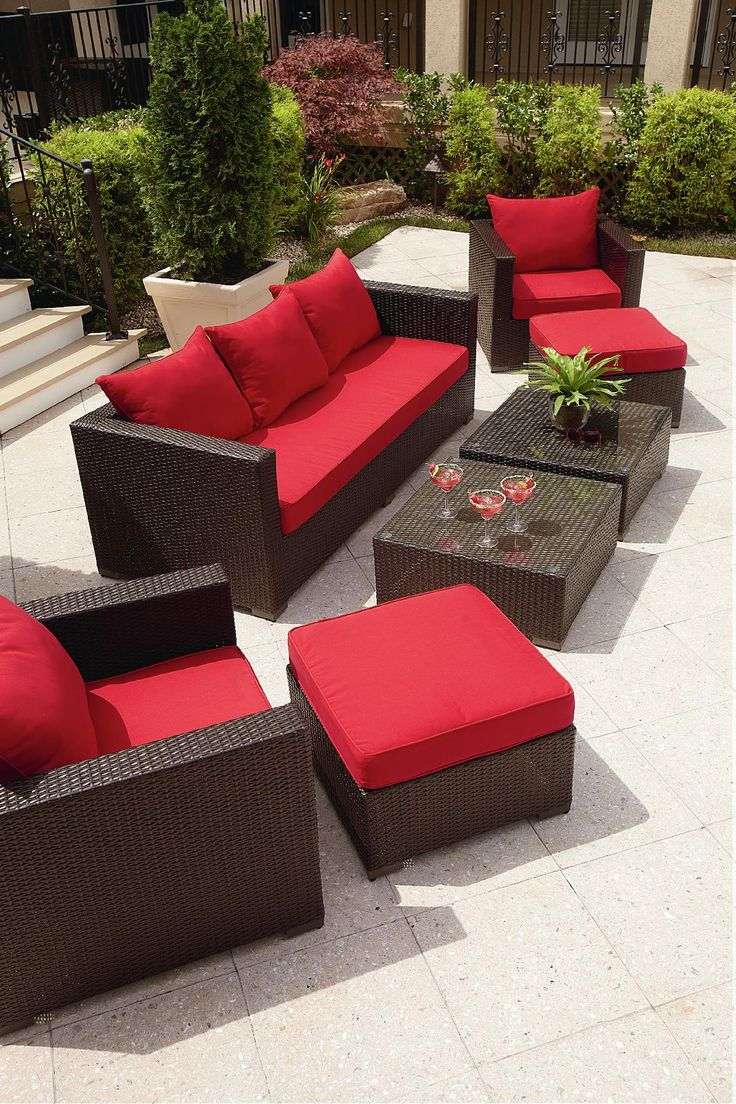 Grand Resort Osborn 7 Piece Sofa Seating Set Featuring Sunbrella Fabric Outdoor Living