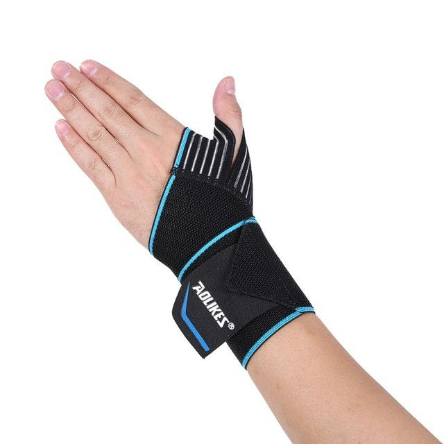 1 Pcs Hand Wraps Wrist Strap Weight Lifting Wrist Wraps Crossfit Powerlifting Bodybuilding Breathable For Cycling Tennis Gym