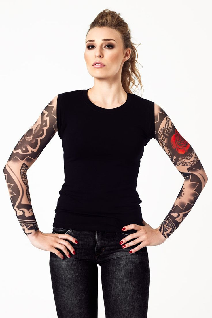 Womens Tank Top with DARK SKULL TRIBAL Temporary Tattoo Sleeves, Womens Shirt, Womens Top, Halloween Shirt, Halloween Costume for Women by dirrtytownclothing on Etsy https://www.etsy.com/uk/listing/256524808/womens-tank-top-with-dark-skull-tribal