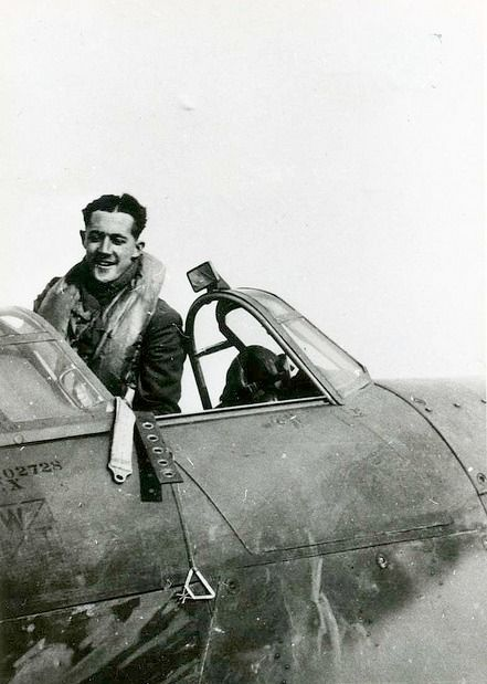"After his move south with No 46 Squadron RAF from RAF Digby on 1 September 1940, P/O William B ""Billy"" Pattullo smiles down from Hurricane Mk I PO-Y at RAF Stapleford Tawney, days before crashing to his death on 25 October. Flying out of RAF North Weald, the Anglo-Chilean pilot died of injuries the following day, aged 21, after the aircraft had fallen onto a house in Romford while returning to base from a patrol."