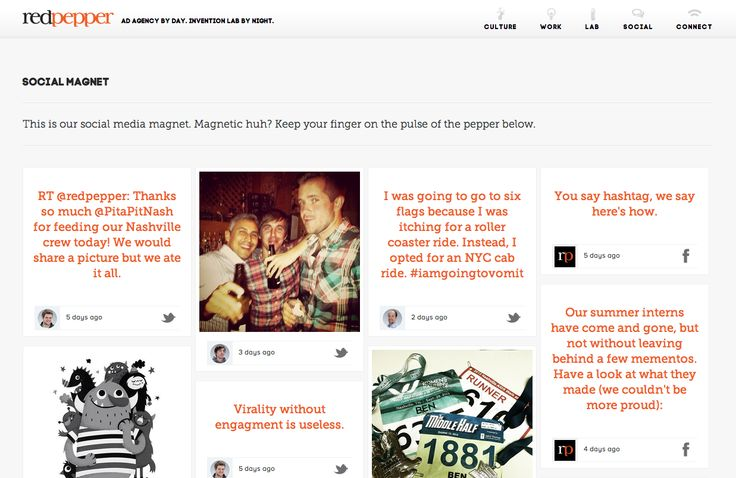 blog built from a companies social media activity: facebook, twitter etc.