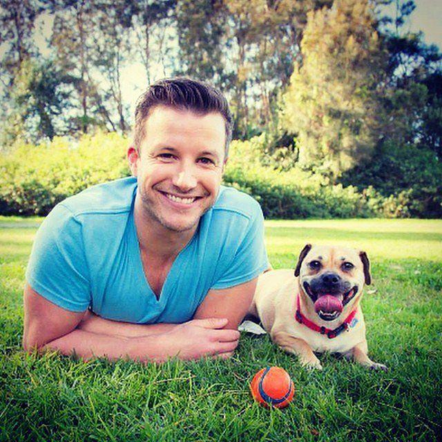 Luke Jacobz and his dog. Too cute. Source: Instagram user lukejacobz
