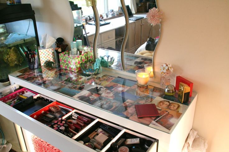 Ikea Malm Dressing Table Put A Large Photo Under The Glass Top