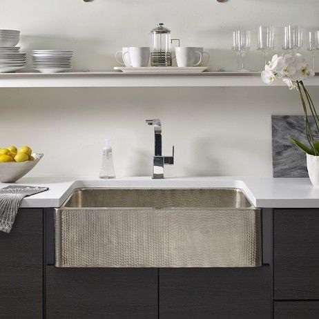Hand Hammered Stainless Apron Front Sink Design From Details On Modenus: