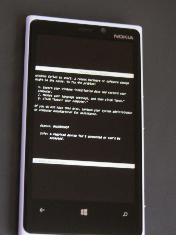 No boot Lumia
