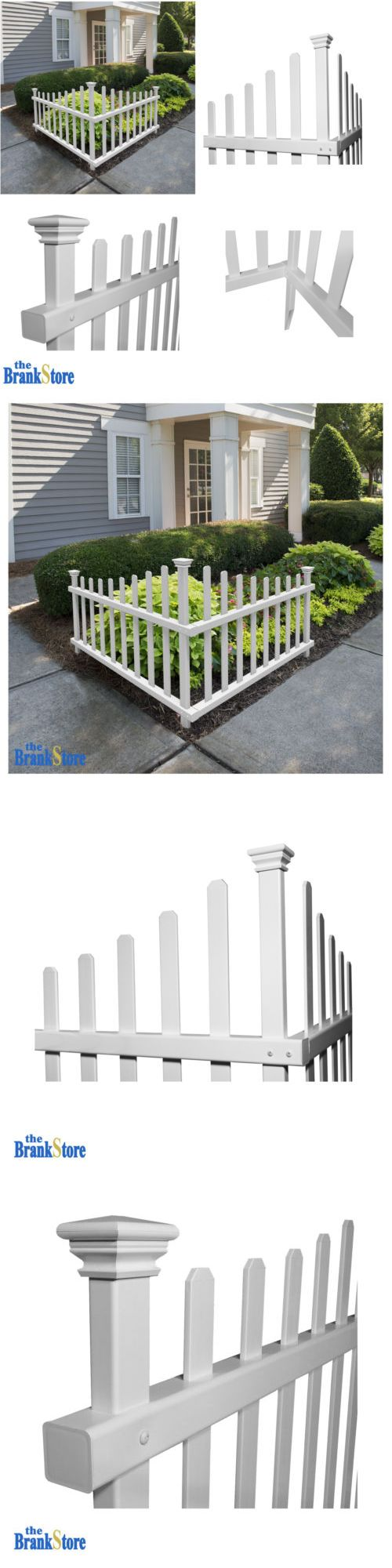 Square aluminum colonial columns prices amp ordering hoover - Fence Pickets 180986 Vinyl Picket Fence Outdoor Corner Decorative White Garden Accent Driveway Decor