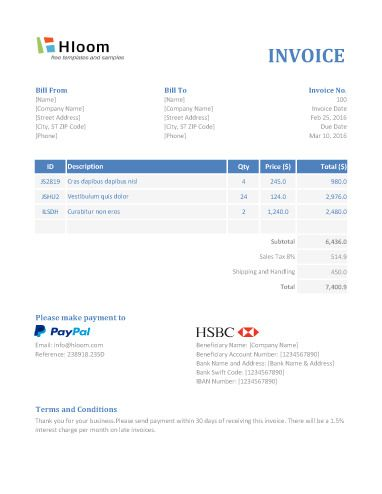 The 152 Best Invoice Templates Images On Pinterest Invoice