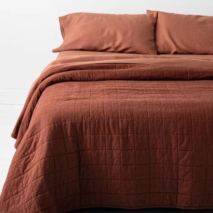 Heavyweight Linen Blend Quilt, New Linen Bedding Target