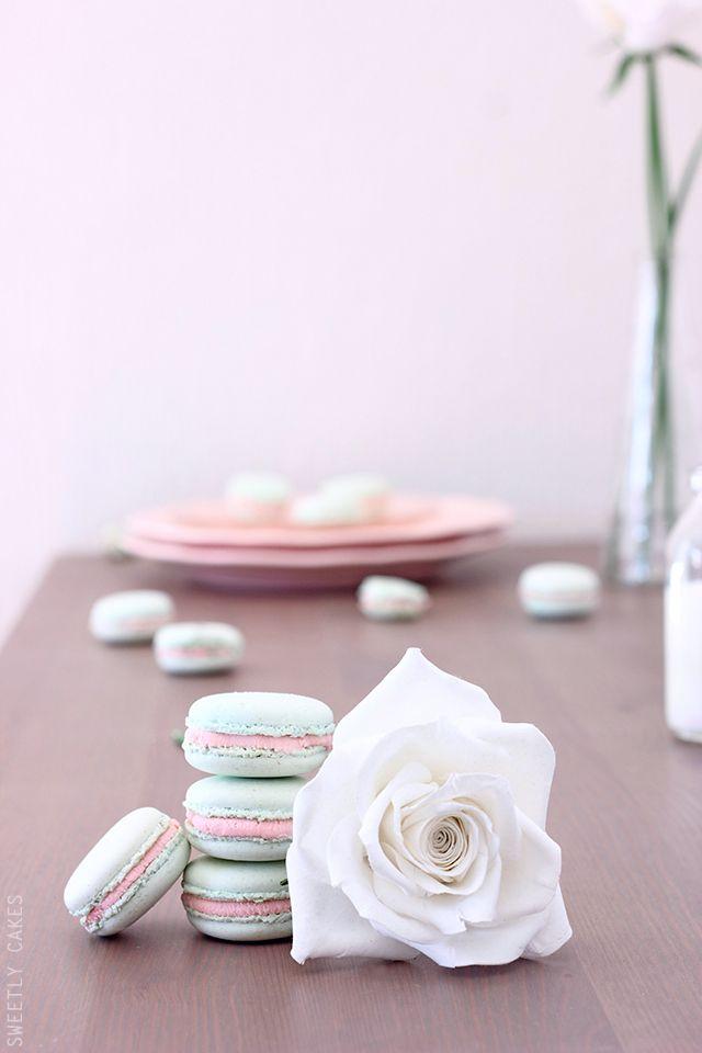Macarons chocolat blanc et framboise