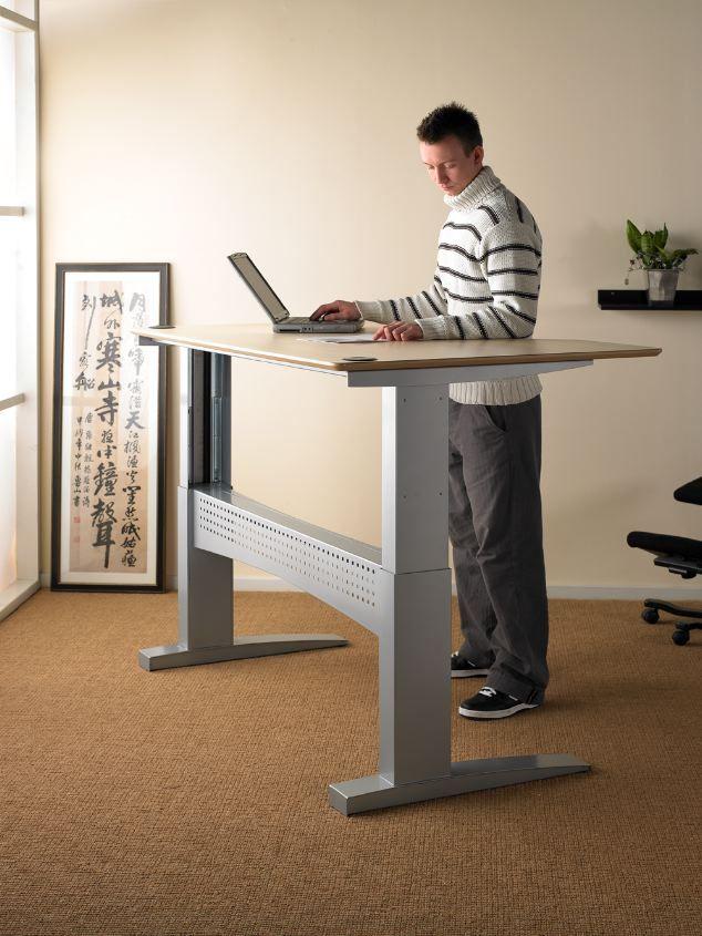 15 best height adjustable desks winding handle images on for Motorized sit stand desk