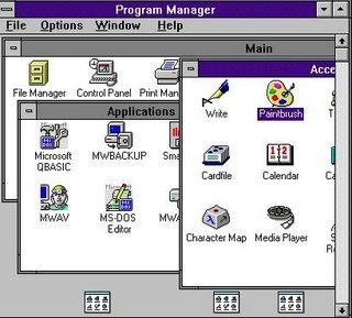 Agost 1992:  Microsoft Windows 3.1
