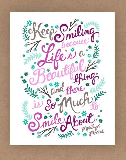8x10in Marilyn Monroe Quote Illustration Print by unraveleddesign, $25.00