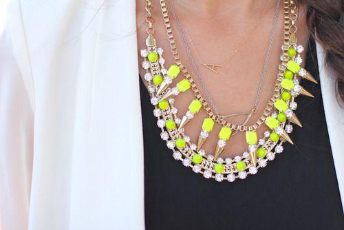 CHANEL NEON JEWLERY | neon necklace | Tumblr