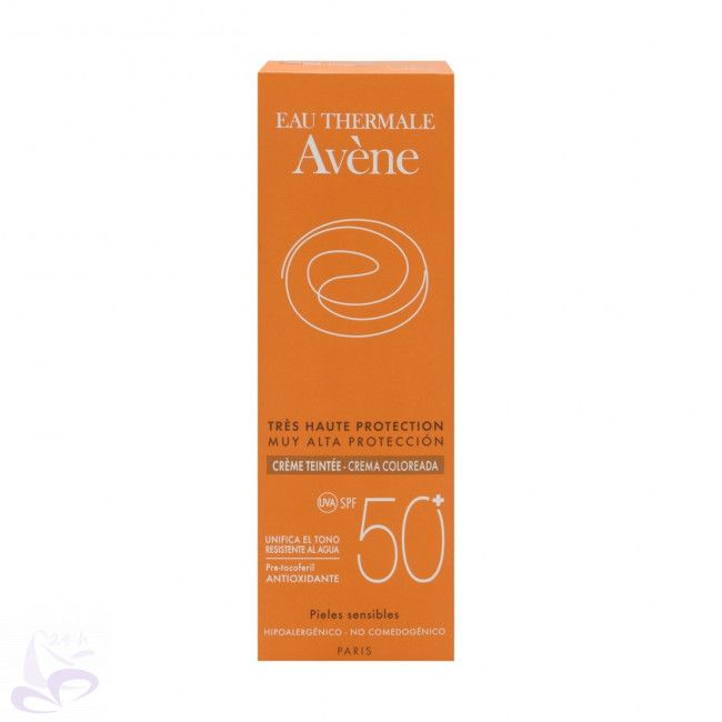 La crema coloreada SPF50+ de Avéne ofrece una muy alta protección solar UVB-UVA estable y eficaz, y encima de amplio espectro. Es fotoestable. Asimismo, unifica el tono de la piel y aporta luminosidad. Es la opción perfecta para la protección de las pieles sensibles. Con propiedades antioxidantes para una protección celular contra los radicales libres. También con propiedades calmantes y anti-irritantes. Facial, Bottle, Sun Protection, Sensitive Skin, Furs, Single Wide, Hue, Facial Treatment