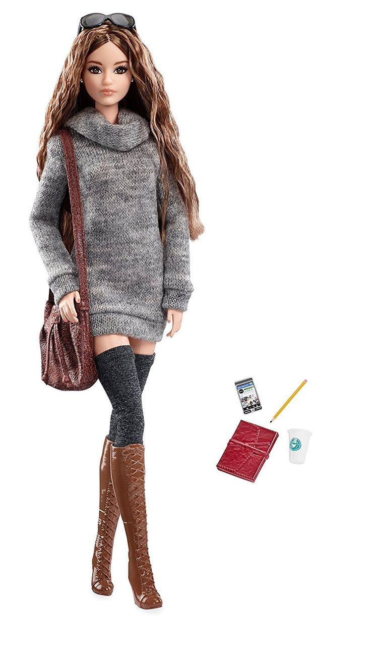 AmazonSmile: Barbie The Look Sweater Dress Doll: Toys & Games