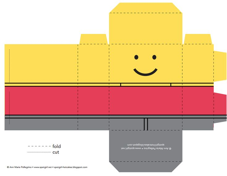 FREE Printable LEGO FAVOR BOX - Lego Party Ideas