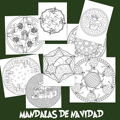 Recursos para el aula: Mandalas Navideñas