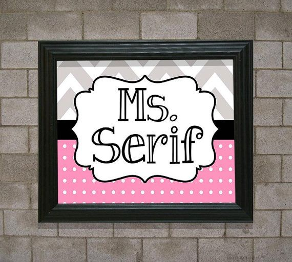 Teacher Name Sign CUSTOM Personalized for Canvas or Frame - for Door PTSO  Chevron & Dots School Colors Teacher Appreciation Gift