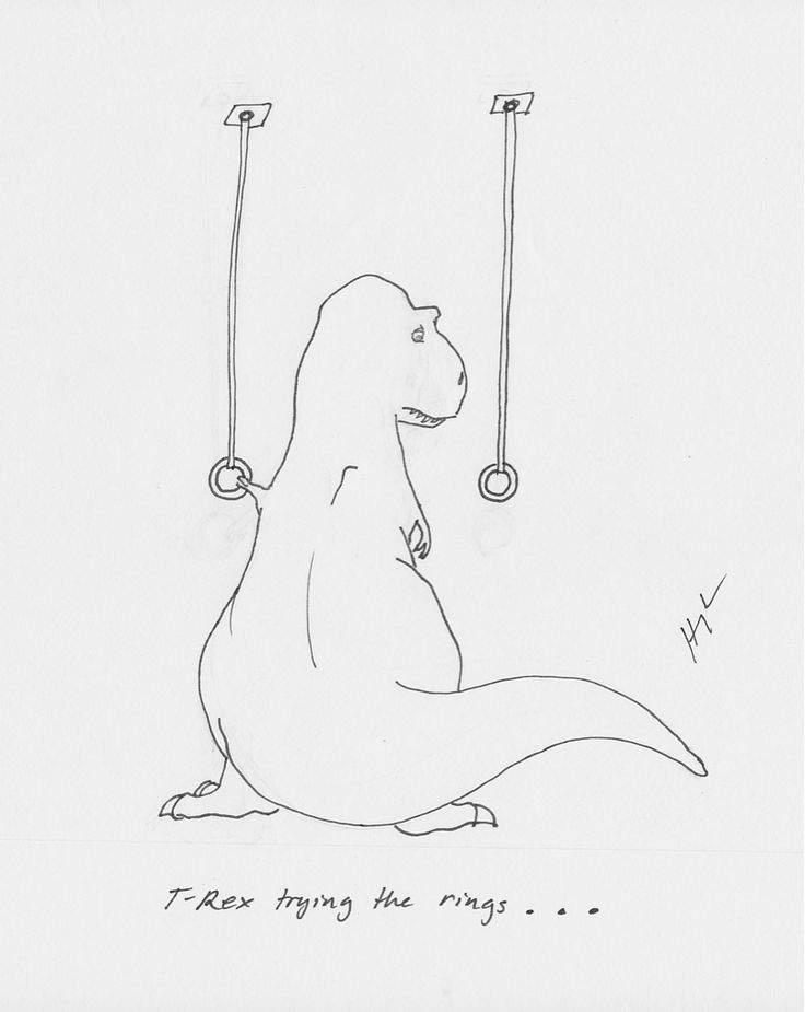 T-Rex Trying... — trextrying:   T-Rex Trying The Rings…  ...