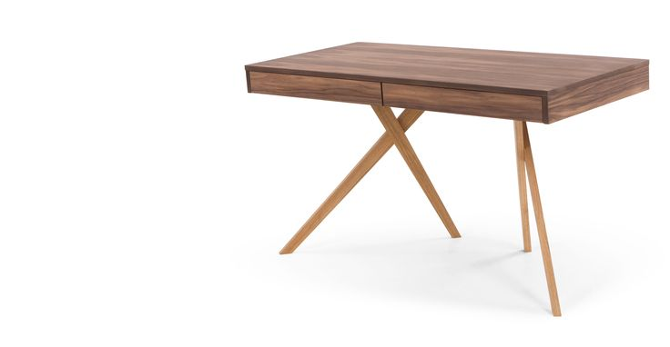 Darcey Desk, Walnut and Oak