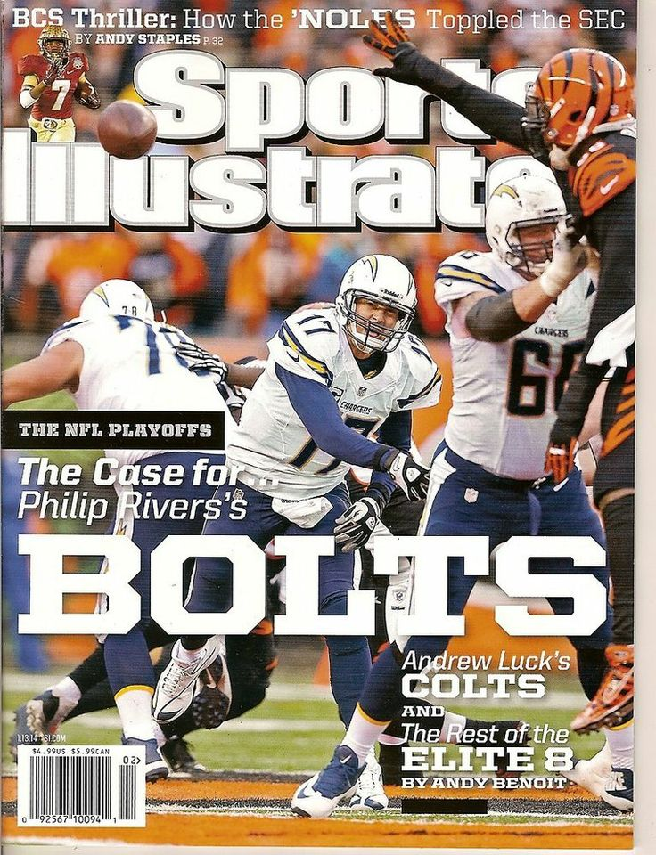 Sports Illustrated,San Diego Chargers,Cincinnati Bengals,NFL,January 13,2014~NEW