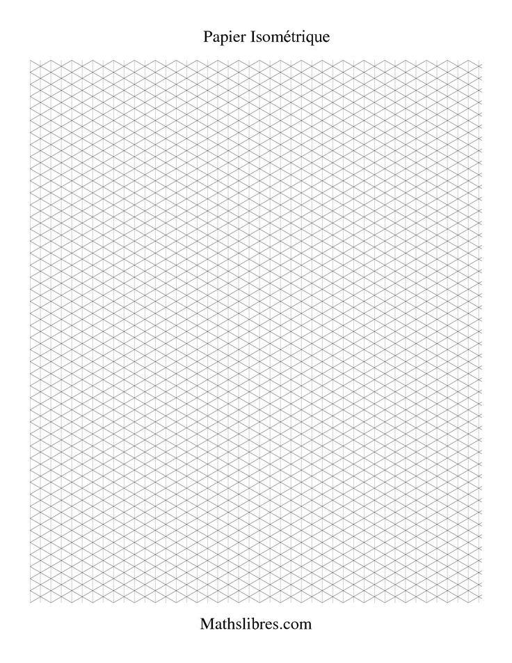 Papier isométrique -- Portrait (petit) #mathslibres