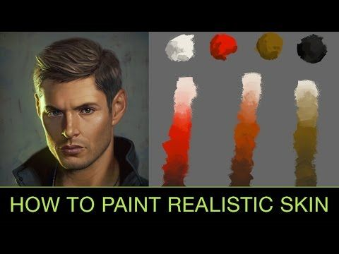 How to Paint Realistic Skin Tones - YouTube