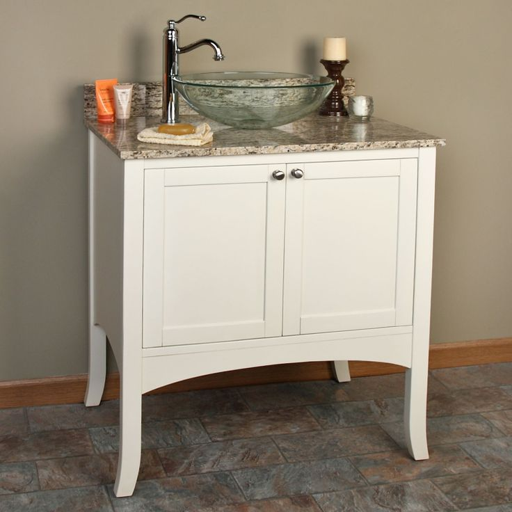 Lovely Vessel Sink and Cabinet Combo