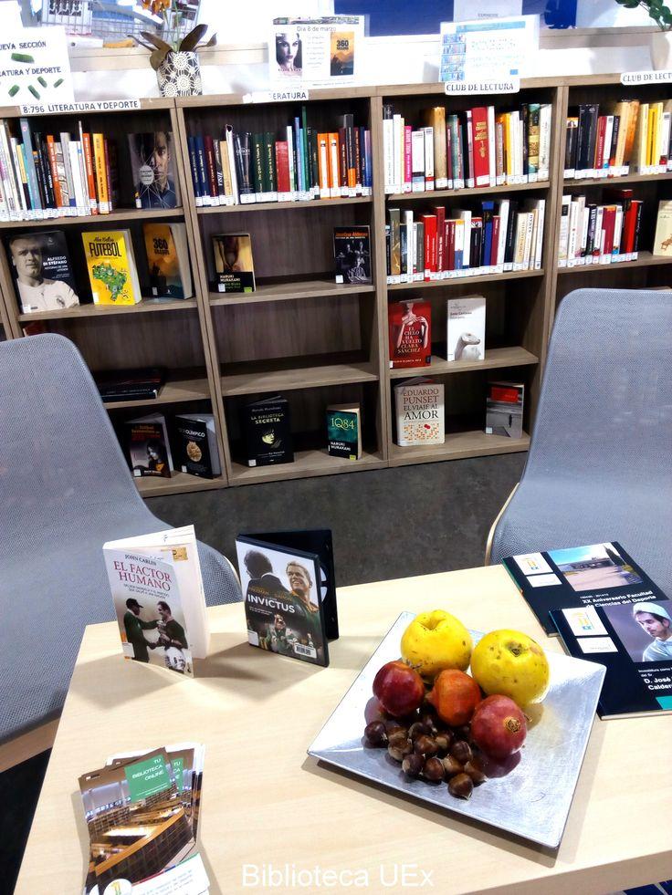 Llega el otoño al rincón de lectura de la biblioteca de F. de Ciencias del Deporte