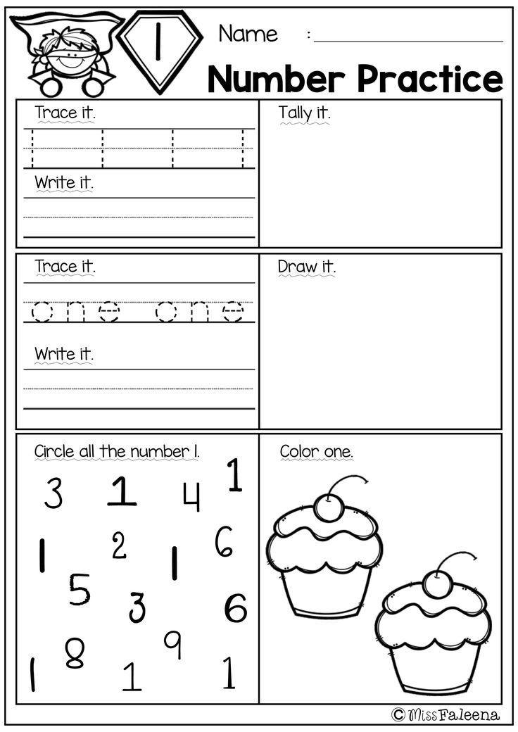 Free Number Practice Miss Faleena 39 S Store Kindergarten