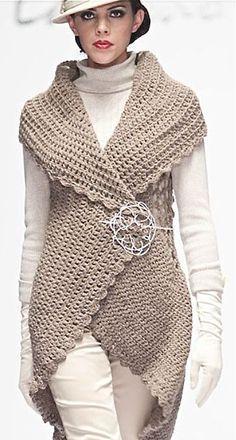 Image result for circular vest crochet pattern