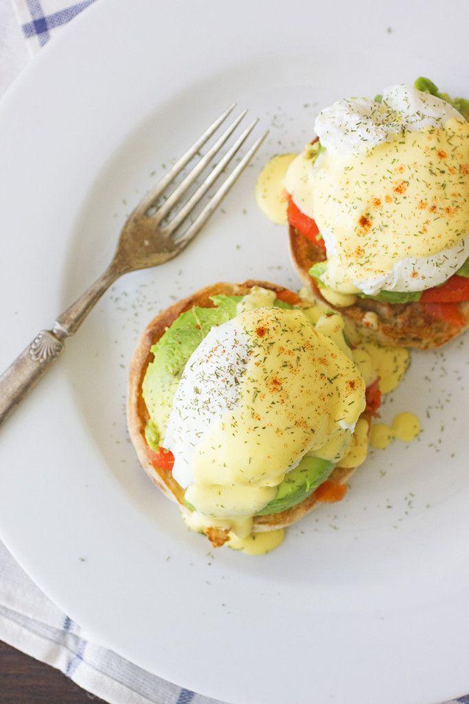 Smoked Salmon and Avocado Egg Benedict Recipe