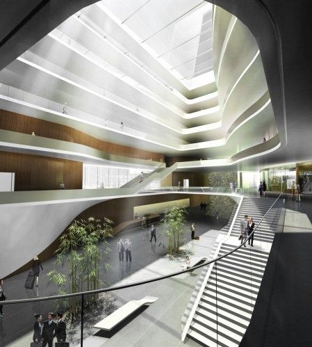 south west hotel competition proposal - henn architects #render