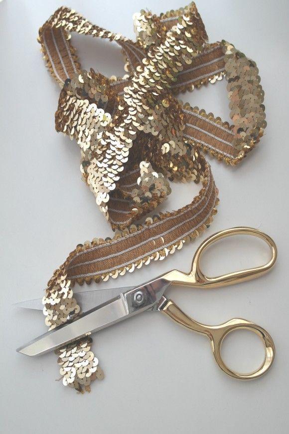 DIY Sequin Monogram | CatchMyParty.com