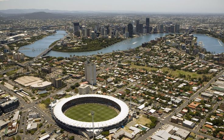 Gabba Stadium: The first event to be held at the Brisbane Cricket Ground was a cricket match between Parliament and the Press on 19 December 1896. The result was a tie (61 runs each) #boh2014 #unlockbrisbane #brisbane #discoverbrisbane