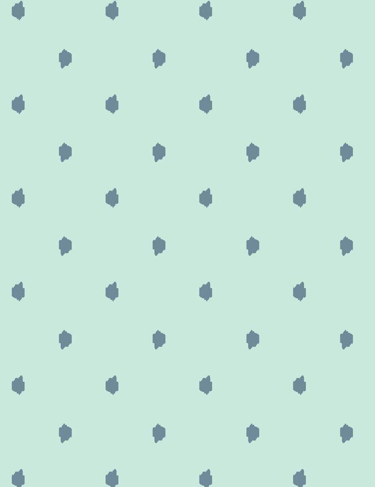 Medina Dot - aloe / whale / aqua wallpaper roll - Wallshoppe