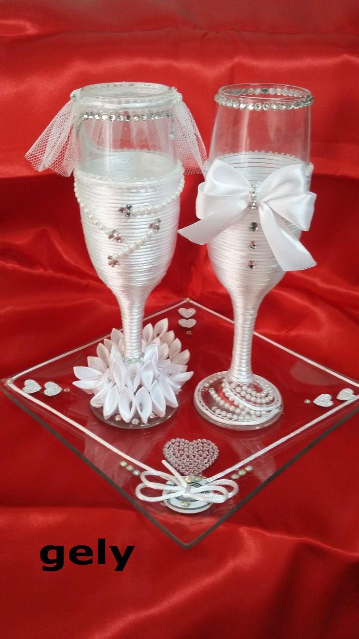 Copas para boda de chicas mis dide os de copas decoradas for Copas decoradas a mano