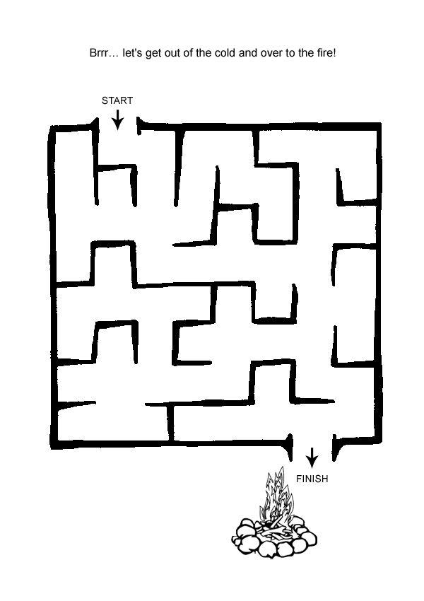Free Online Printable Kids Games - Easy Maze