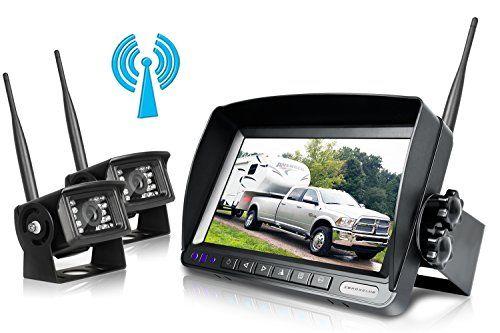 Digital Wireless Backup Camera System Kit,No Interference,IP69 Waterproof Wireless Rear View Camera + 7'' LCD Wireless Reversing Monitor For Truck/Semi-Trailer/Box Truck/RV (W02 - 7 inch) - Wireless Backup Camera