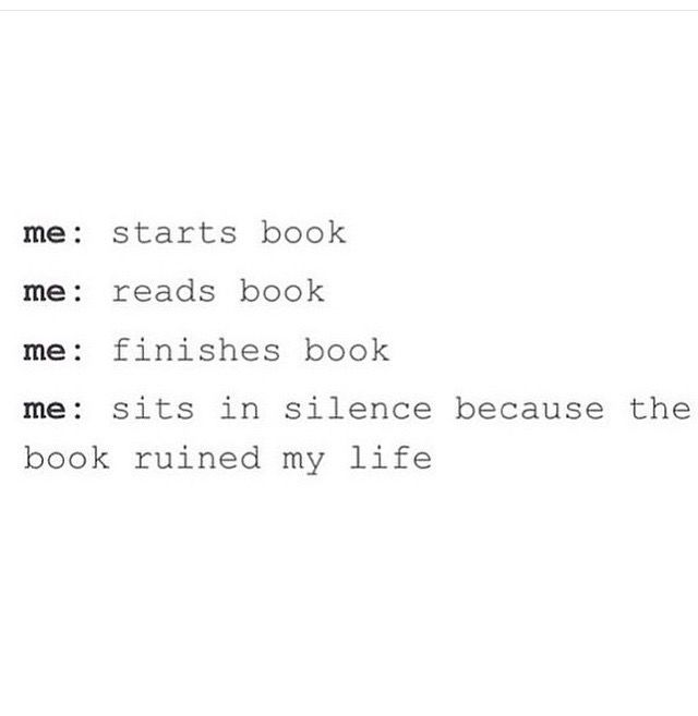 The book ruined my life.